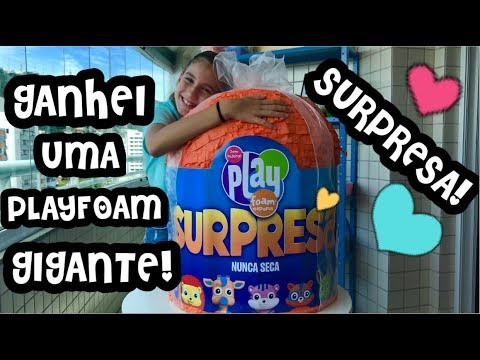 ABRINDO UMA PLAYFOAM GIGANTE SURPRESA ! PLAYFOAM PALS GIANT ! SURPRISE EGG OPENING ! FOAM SLIMES !