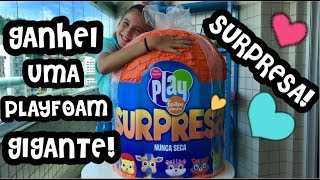 PLAYFOAM PALS GIANT SURPRISE EGG OPENING ! GIANT PLAY FOAM SURPRISE ! PLAYFOAM SLIME