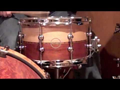 Eon Custom Snare Drum~ Oak and Mahogany Snare 12 x 7