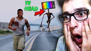 TELEVİZYON KAFA BENİ KOVALADI !! TV HEAD GTA 5'de GÖRDÜK !! (Gta 5 Tv Head Türkçe Mod)