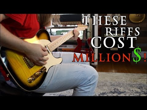 The Most Expensive Riffs Of All Time! ( I'm afraid to play some)