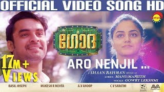 Aaro Nenjil Song with Lyrics | Godha Official | Tovino Thomas | Wamiqa Gabbi | Shaan Rahman