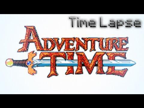Adventure Time Logo – Minecraft Pixel Art