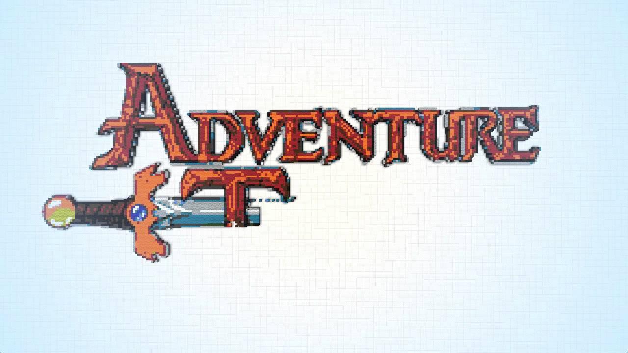 Adventure Time Logo Minecraft Pixel Art Youtube