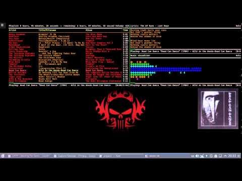 Arch Linux, mpd, ncmpcpp, tmux  + conky folder art