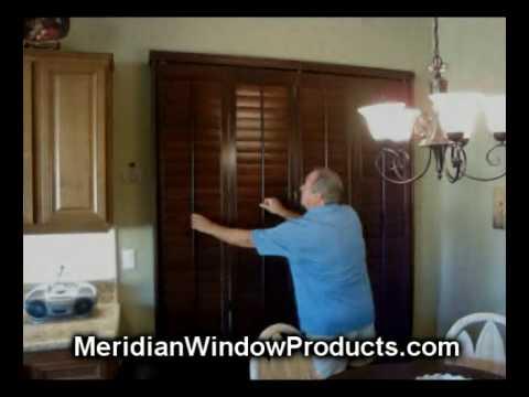 Bi fold track shutters on a sliding glass door palm springs youtube bi fold track shutters on a sliding glass door palm springs planetlyrics Images