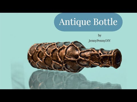 bottle decoration ideas| using hot glue gun|bottle transformation|antique design on bottle|