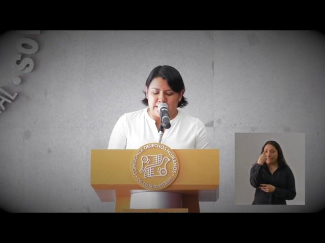 Palabras de la Dra Perla Gómez Gallardo durante la Recomendación 5/2017