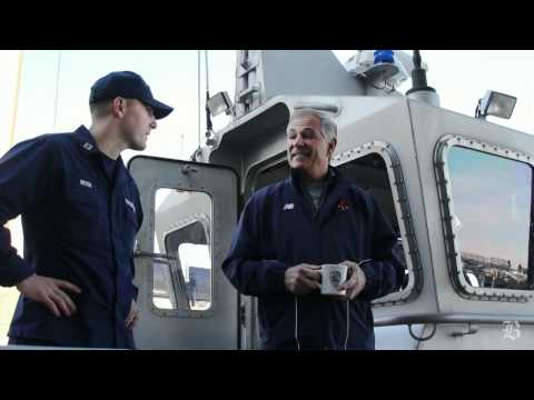 Red Sox Manager Bobby Valentine Visits The Boston Coast Guard Station