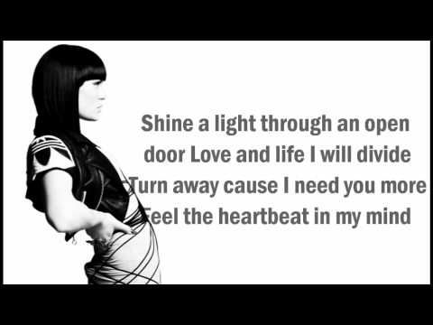 Jessie J  We Found Love Lyrics On Screen