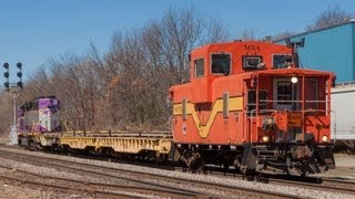HD Orange Caboose Leads MBTA Work Train