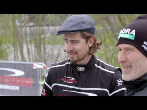Peter Sagan and Bora-Hansgrohe teammates take on the Auto Eder Racetrack Challenge