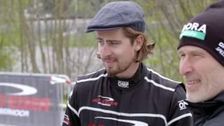 Peter Sagan and Bora-Hansgrohe teammates take on the Auto Eder Racetrack Challenge