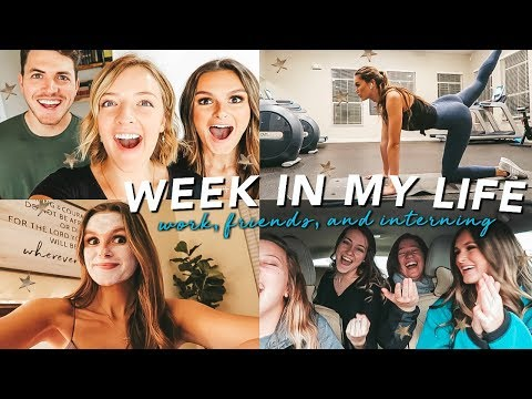 week in my life: meet my friends, interning, & living in colorado