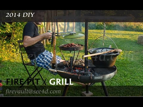 DIY 2014- Fire pit / grill fabrication