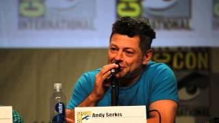 Andy Serkis does Smeagol voice - The Hobbit Panel Comic-Con 2014