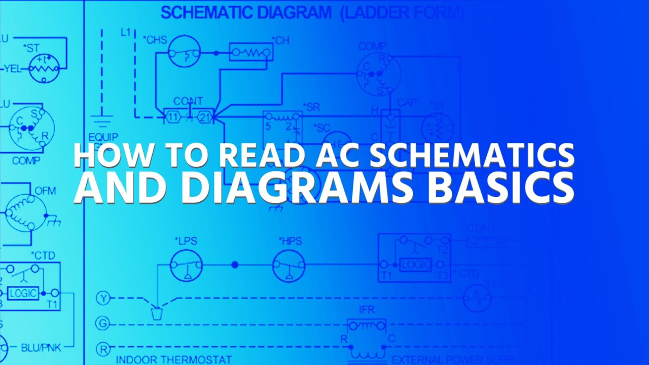 How to Read AC Schematics and Diagrams Basics - YouTube | Hvac Wiring Diagram Test |  | YouTube