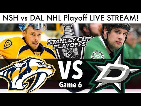 Predators Vs Stars NHL Playoff Game 6 LIVE STREAM! (Round 1 Stanley Cup Series NSH/DAL Reaction)