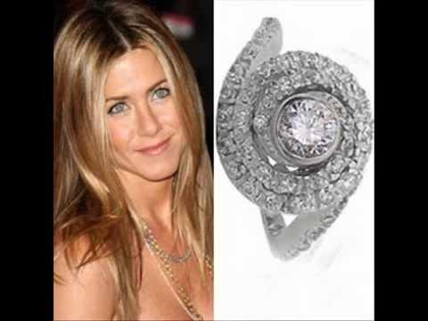 Celebrity Jennifer Aniston's Engagement Ring - YouTube