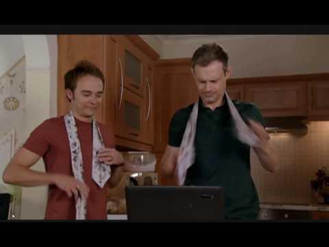 Coronation street 8910 David and Nick try to tie their Cravats Neckties