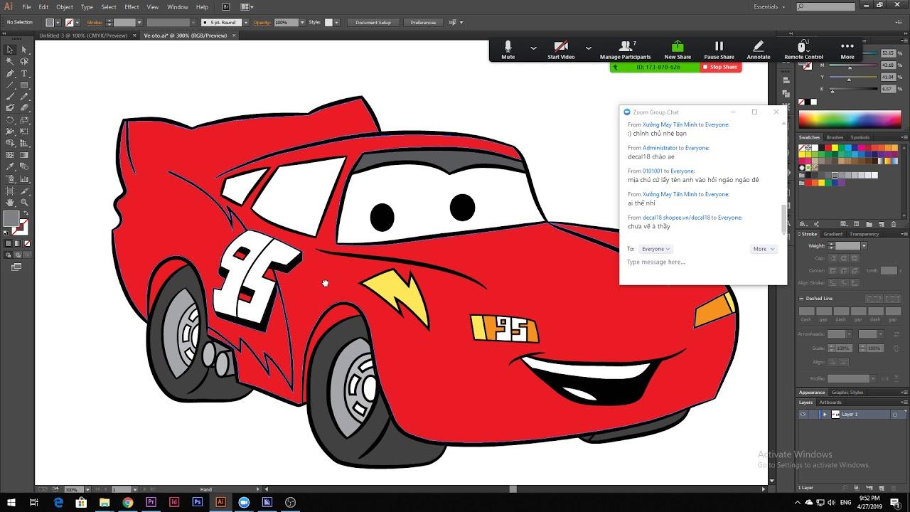 Bài 5: Học thiết kế cực đơn giản adobe illustrator cc
