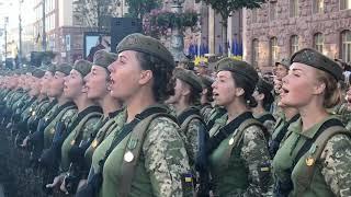 Генеральна репетиція параду до 27-ої річниці Дня Незалежності України