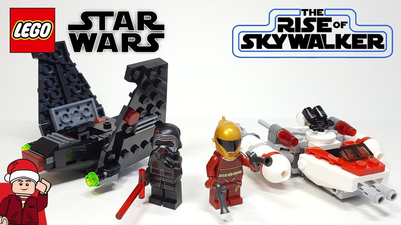Lego Star Wars Kylo Ren S Shuttle Resistance Y Wing Microfighters 75264 75263 Sets Review Youtube