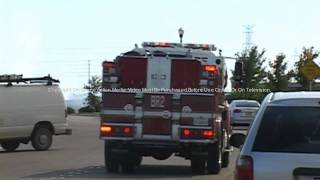 Roseville, CA: Dramatic footage of a  434 Acre Grass Fire approaching a residential area 8-20-2010