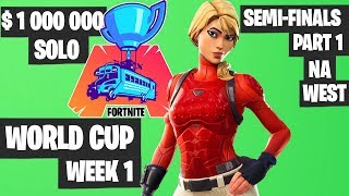 Fortnite World Cup Semifinals Part 1 Highlights - NA West Day 1 [Fortnite Tournament 2019]