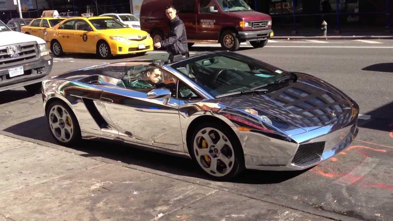 Lamborghini Gallardo Chrome New York City Nyc October 2013