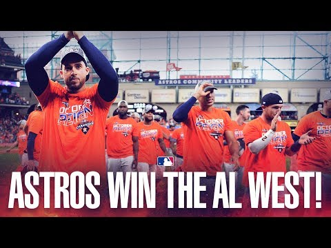 Astros clinch the AL West!