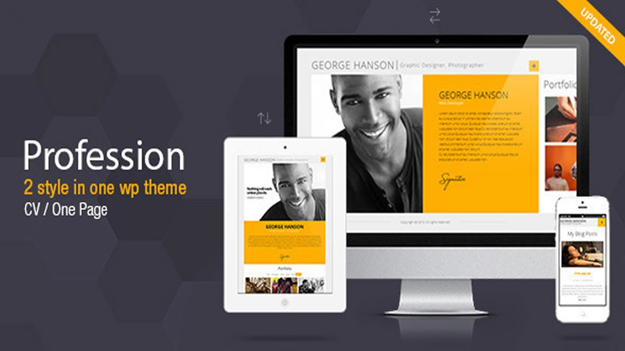 Profession One Page Cv Resume Theme V2 9 2 Youtube