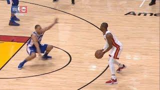 Dwyane Wade Shakes Justin Anderson | 76ers vs Heat - Game 3 | April 19, 2018 | 2017-18 NBA Season