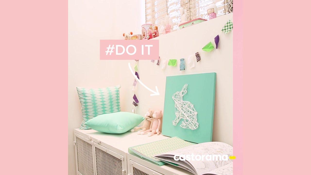 Diy fabriquez un tableau enfant avec de la ficelle for Tableau castorama