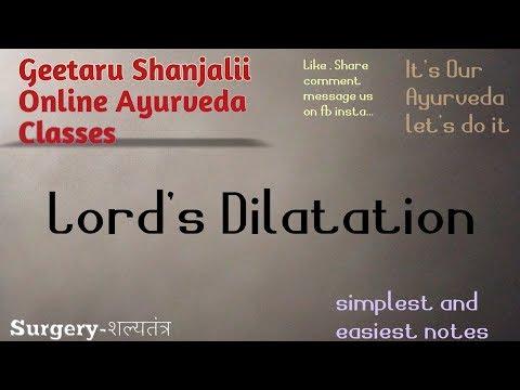Lord's Procedure Of Dilatation By Geetaru
