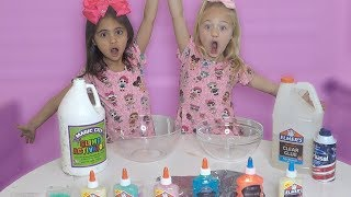 Besties Make Crazy Ginormous Slime!!!