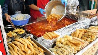 Top 8, лучший магазин Tteokbokki в Сеуле Сандэ, рыбный пирог | Корейская уличная еда