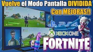 Modo Pantalla DIVIDIDA FORTNITE - HA VUELTO y MEJORADO!! PS4 y Xbox