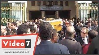 تشييع جثمان الراحل طارق الغزالى حرب من مسجد السيدة نفسية بحضور سياسيين