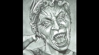 Weeping Angel Doctor Who A Dredfunn Mechanical Pencil Portrait