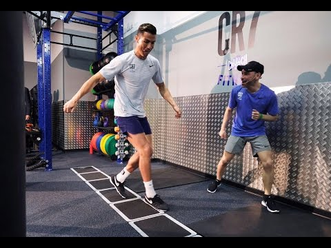 "Cristiano Ronaldo grand opening of new ""CR7 Crunch Fitness"" gym 