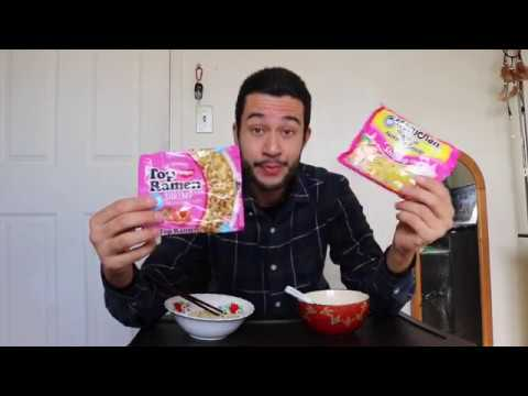 Top Ramen Vs. Maruchan - Instant Noodle 🍜(Shrimp Flavor) Food Review Nissin