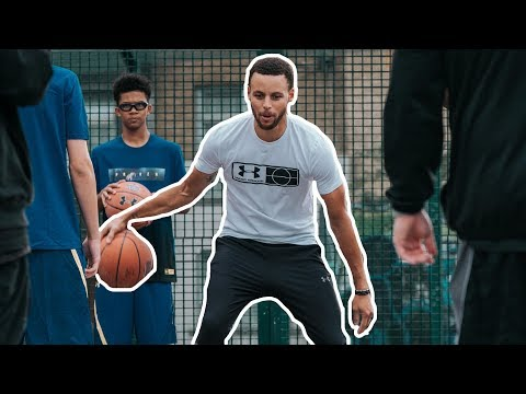 Stephen Curry in London with Under Armour - Summer 2018