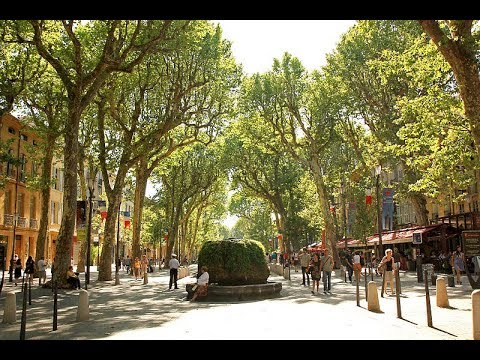 Places to see in ( Aix en Provence - France ) Cours Mirabeau