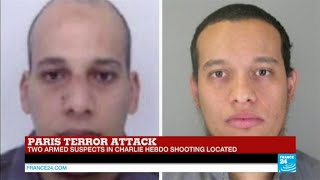 #BREAKING - Two armed suspects in #CharlieHebdo attack