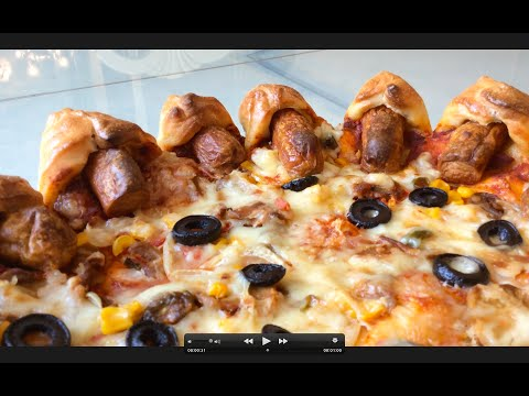 Sausages Stuffed Crust Pizza
