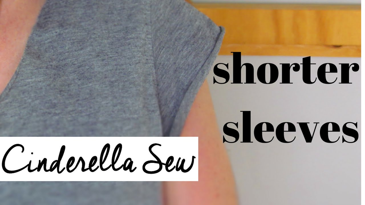 How to cut shorter sleeves on a tshirt  Cut cap sleeves
