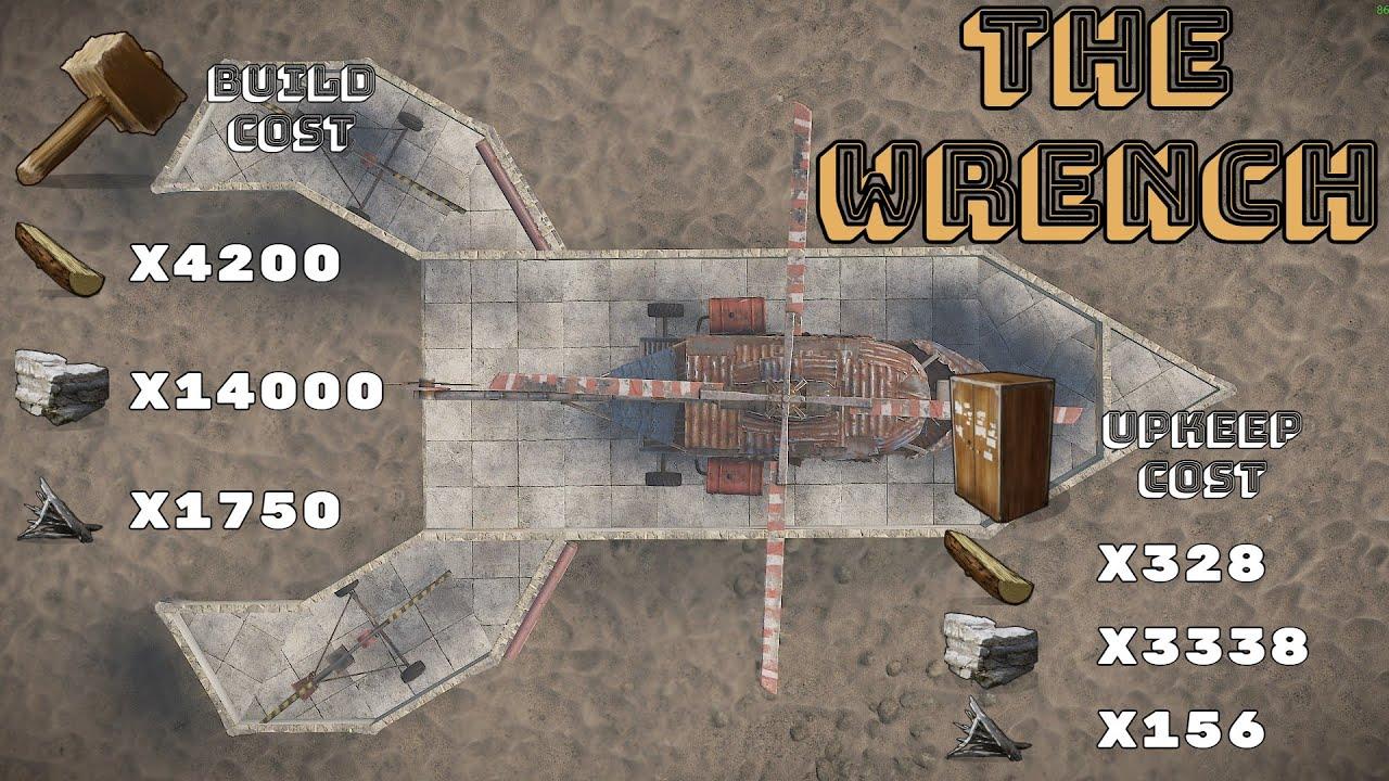 Scrap Heli Base Design With 2 Minicopter Hangers Low Upkeep Rust Base Design Youtube