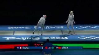Beijing 2008 - MSI - GOLD - Zhong CHN v Lopez FRA - 2 of 2