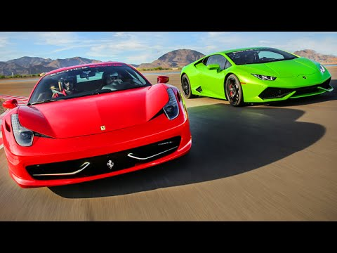 racing a ferrari 458 and lamborghini huracan youtube. Black Bedroom Furniture Sets. Home Design Ideas